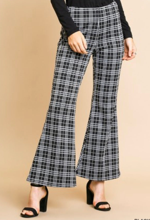 The Plaid Craze Flare Pants