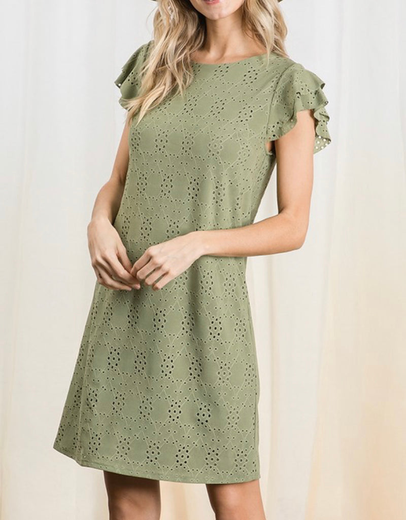 The Peace & Sage Eyelet Dress