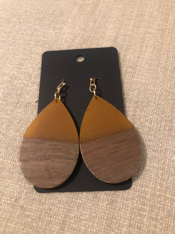 The Touch of Wood Tear Drop Earrings