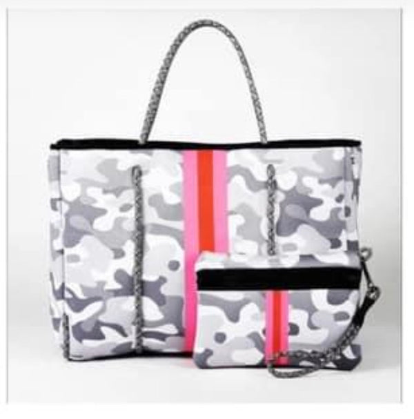 Gray Camo Neoprene Bag