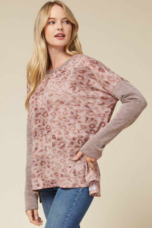 The Blushing Cheetah Top
