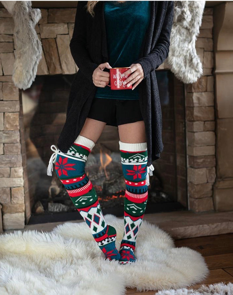 G&L Holiday Edition: Alpine Thigh High Boot Socks