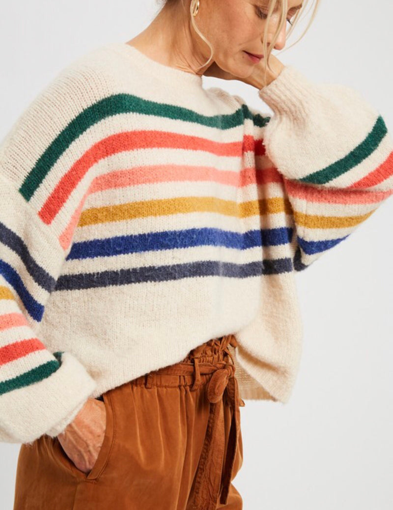 The Coziest Rainbow Love Sweater