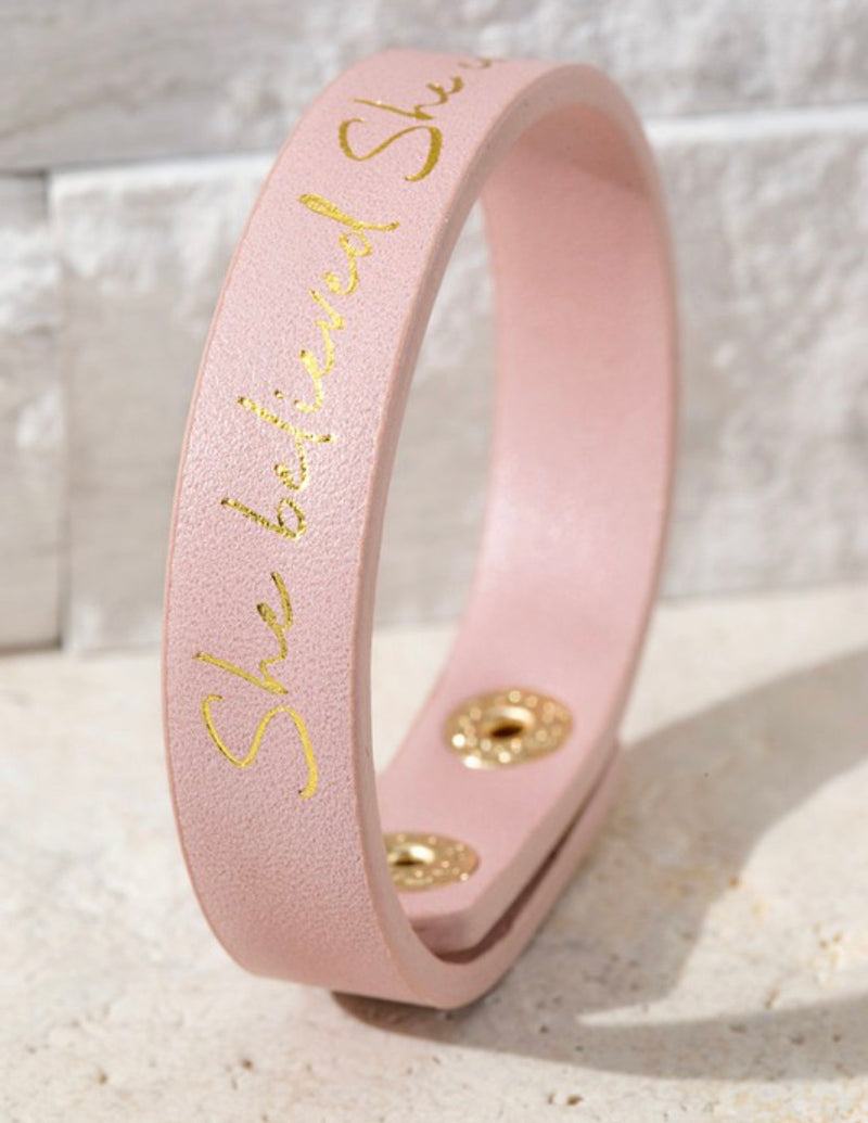She Believed She Could Bracelet Cuff