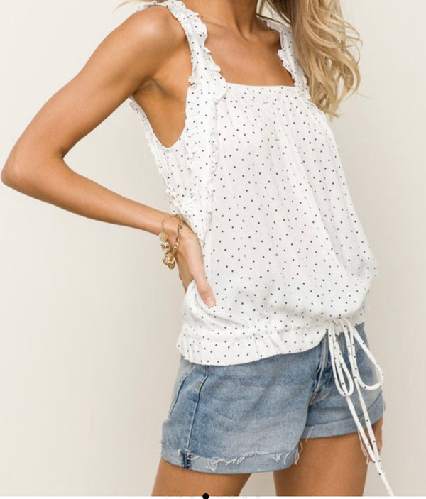 The All Frills Polka Dot Tank