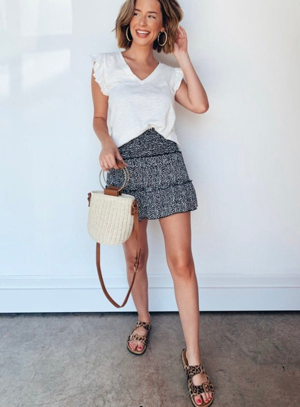 Walking on the Wild Side Tiered Skirt