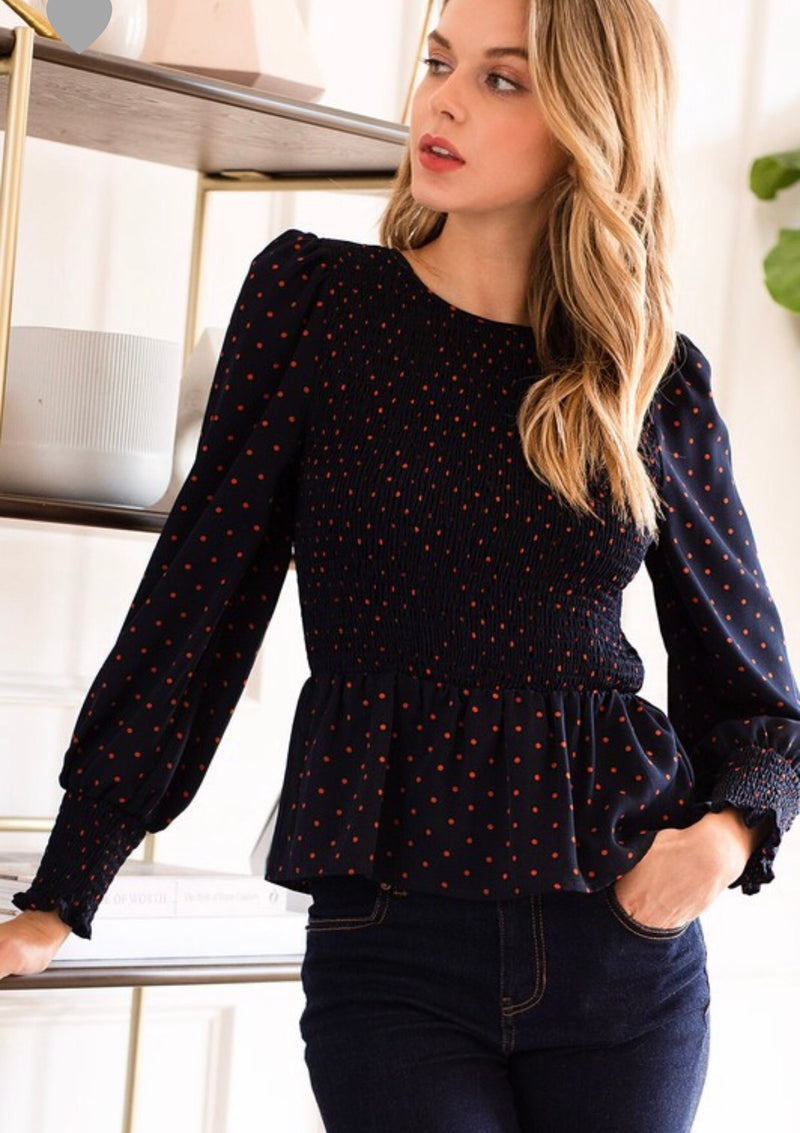 The Molly Polka Dot Top
