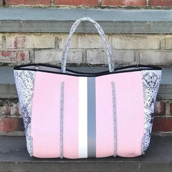 Pink Snake Neoprene Bag