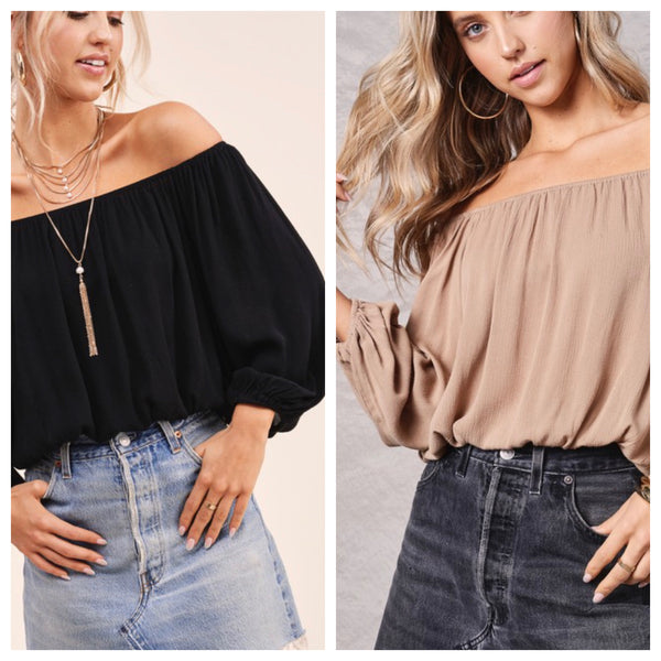 The Mylo Off the Shoulder Top