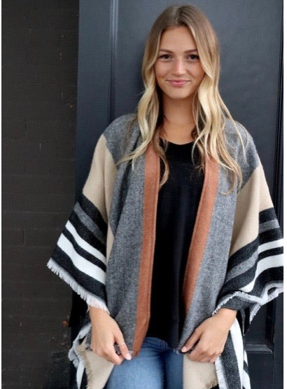 The Naomi Striped Shawl