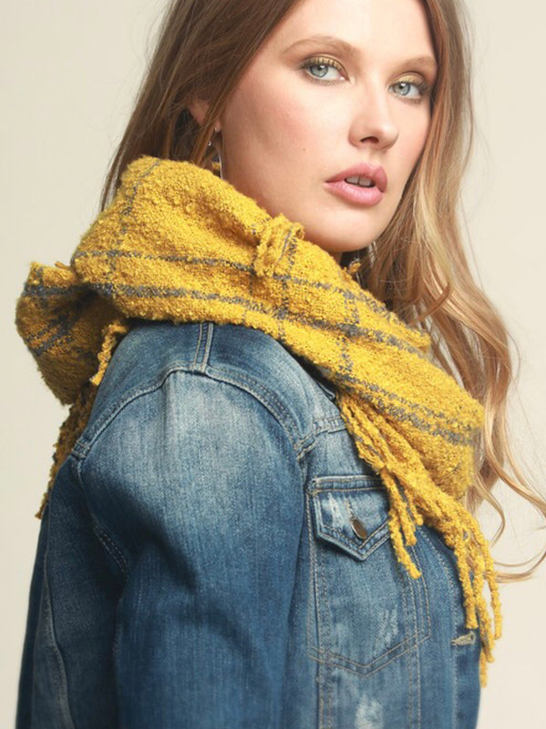 The All about Mustard Infinity Scarf