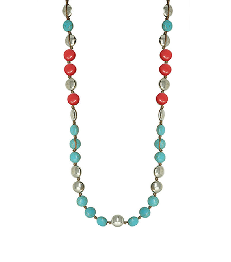 Turquoise Beaded Mask Chain