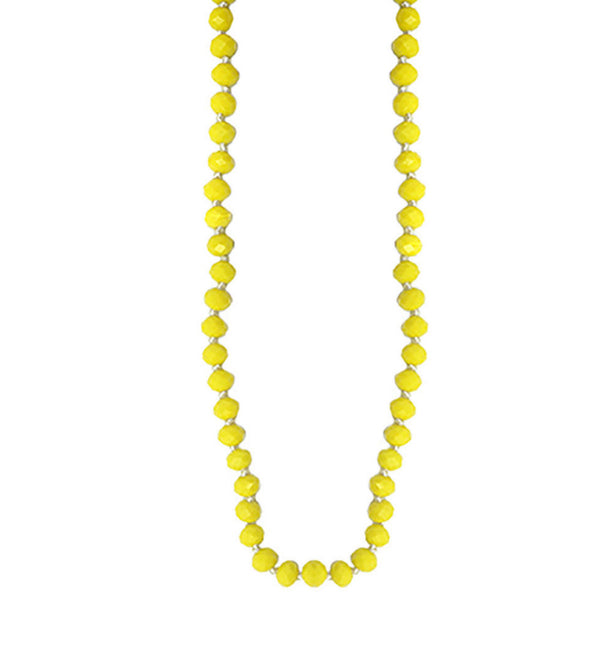 Yellow Beaded Mask Chain