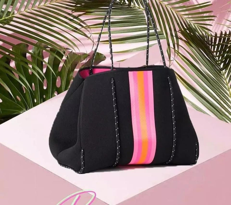 Black & Pink Neoprene Bag