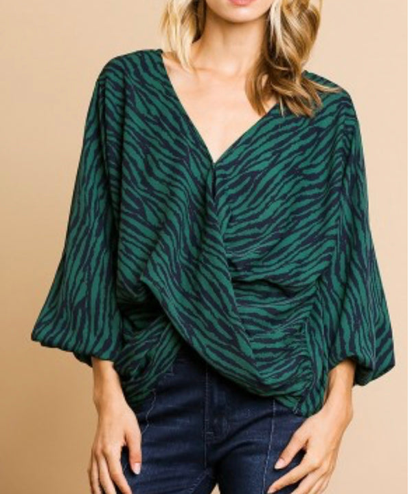 The Emerald Forest Animal Print Top