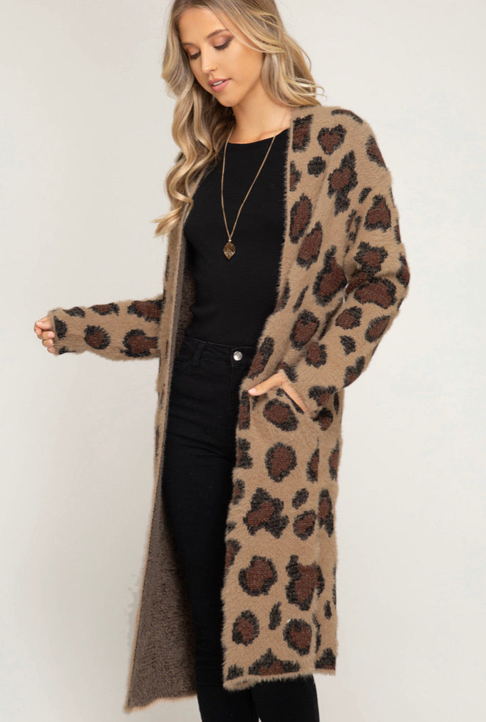 The Fuzzy Leopard Perfect Cardi