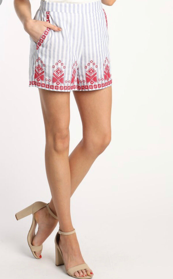 The Janelle Embroidered Shorts