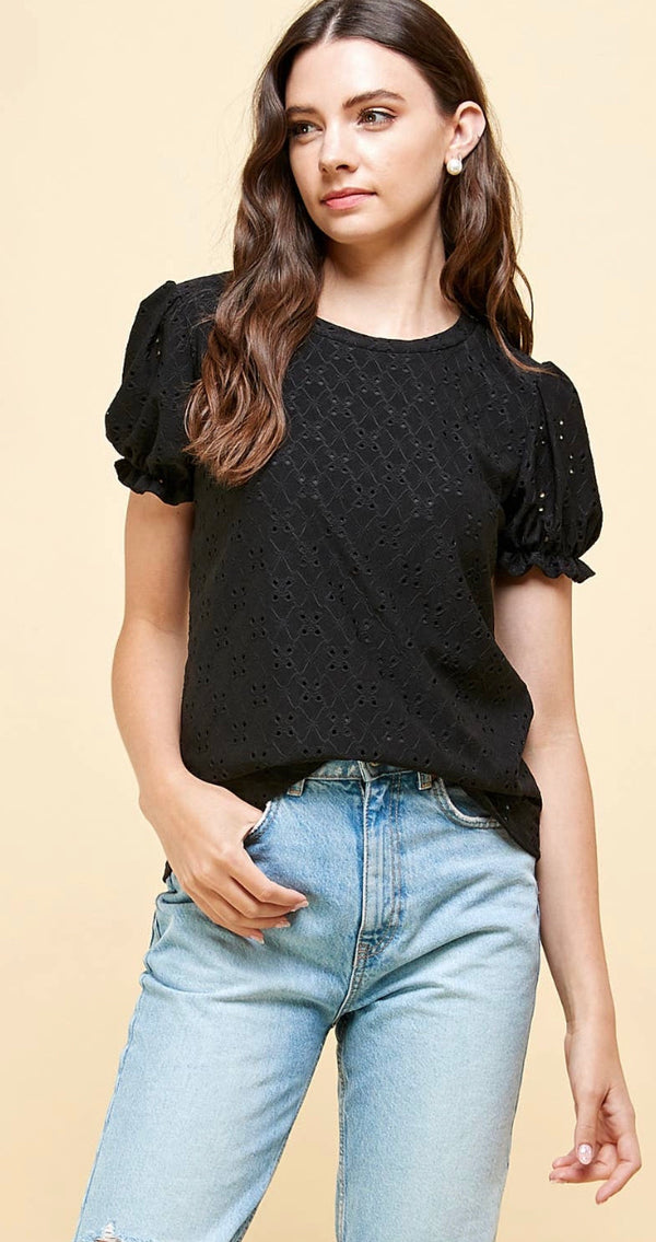 The Rena Eyelet Top