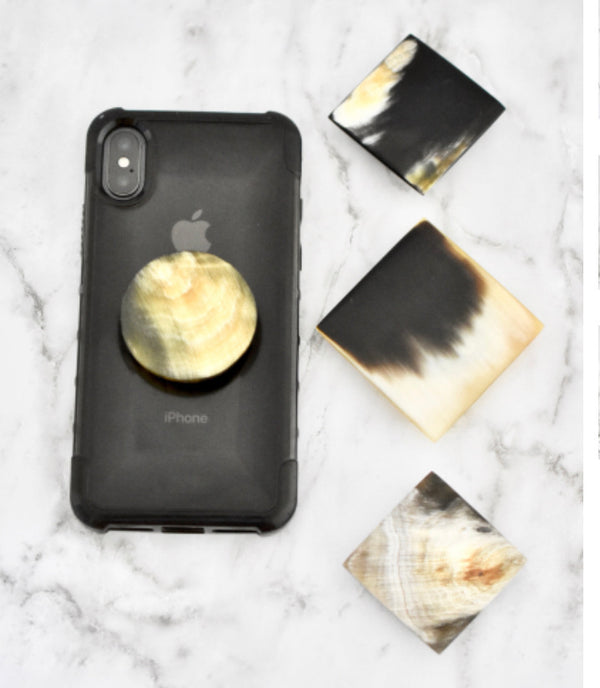 Béljoy Handcrafted Horn Phone Pop Socket Gems
