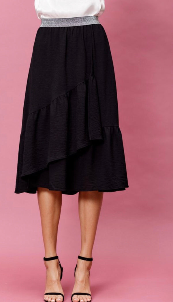 The Holiday Lux Black Skirt