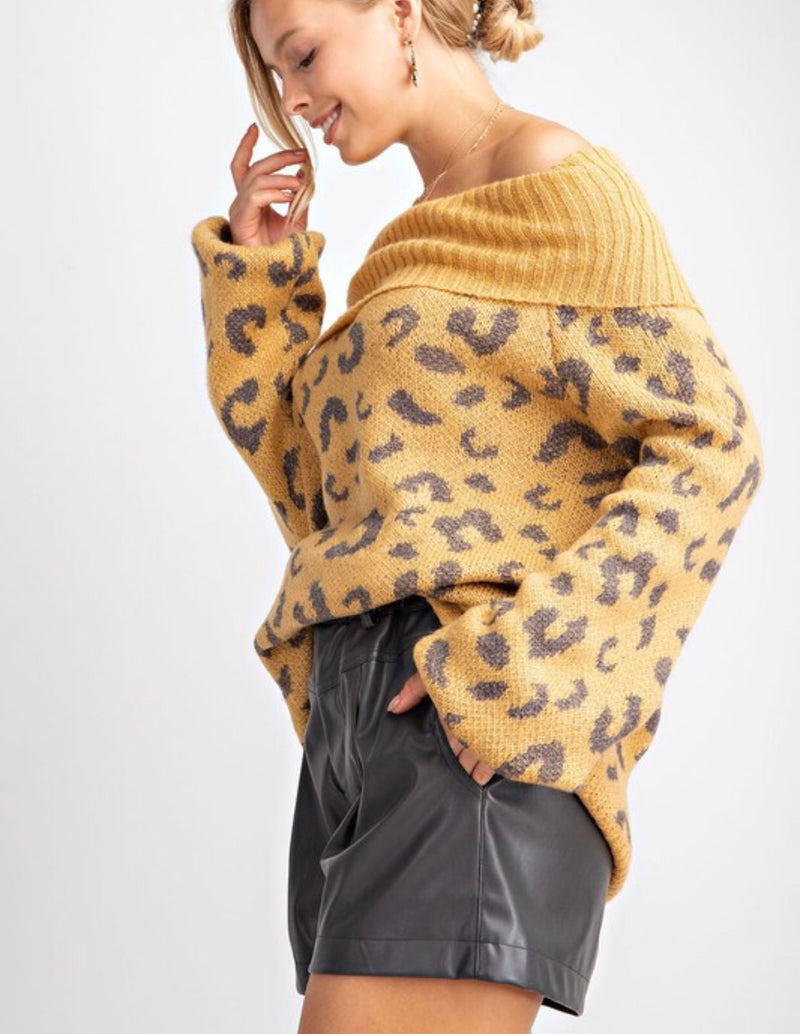The Cape Town Leopard Print Sweater