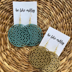The Flower of Life Handmade Earrings