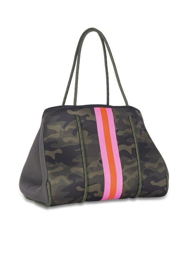 Camo Striped Neoprene Bag