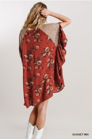 The Autumn Sunsets Babydoll Dress