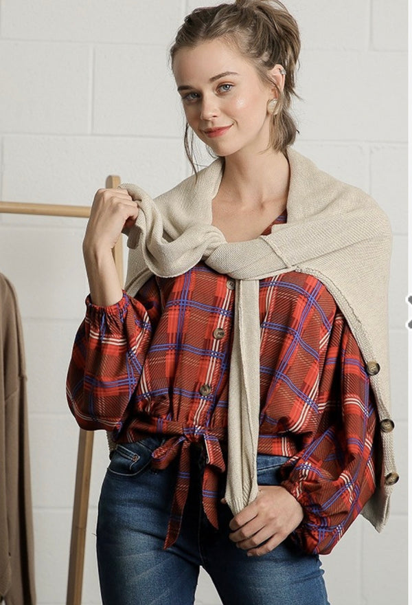 The Colorado Springs Plaid Top