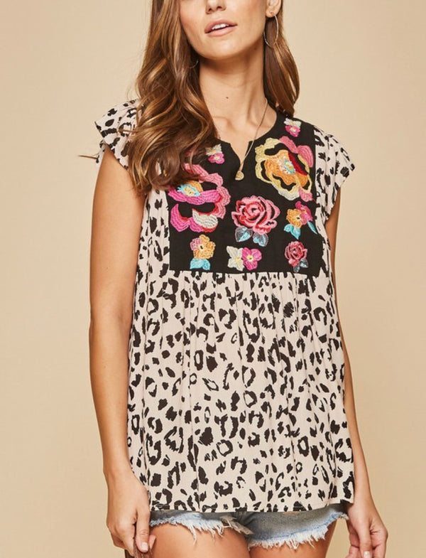 The Lagos Leopard Top