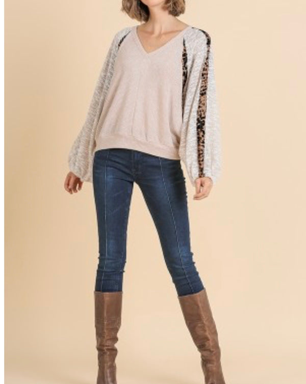 The Wild for Animal Print Knit Top