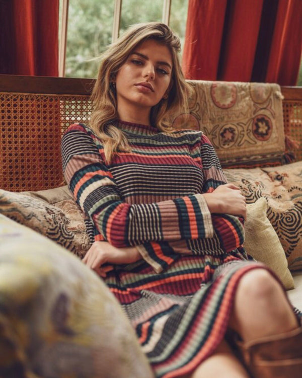 The Lenora Fall Striped Dress