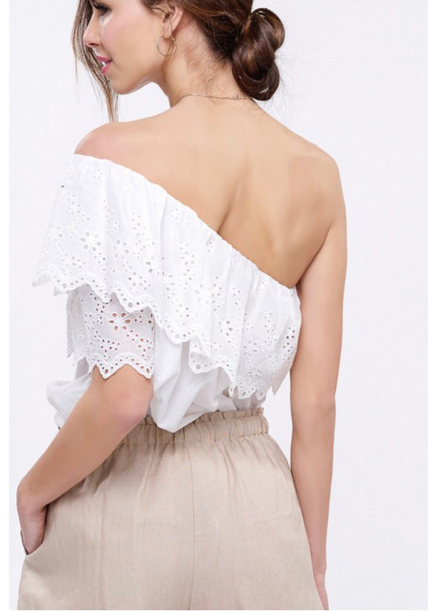 The Penelope One Shoulder Top