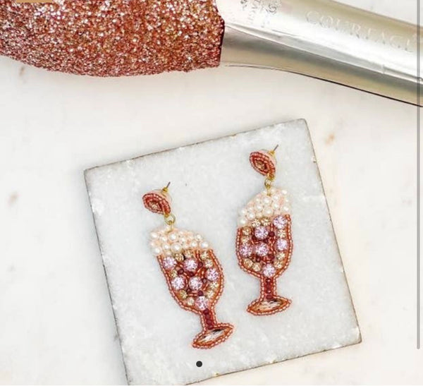 The Glass of Bubbly Earrings