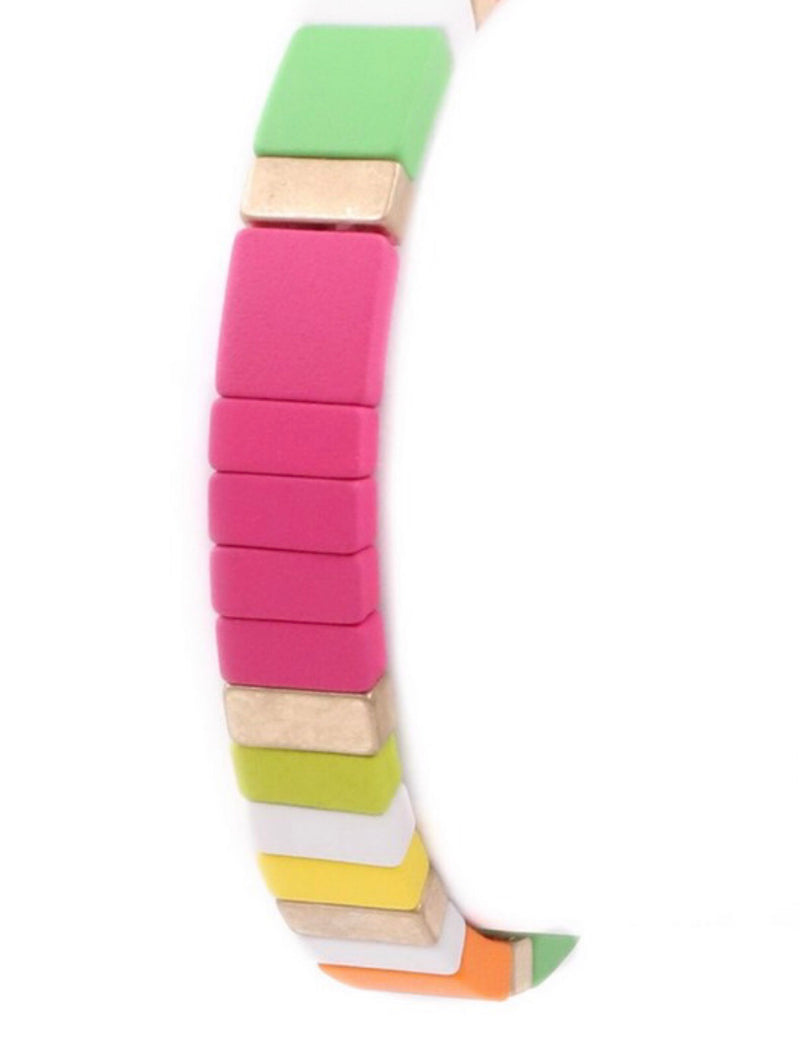 The Whitney Short Stack Tile Bracelet
