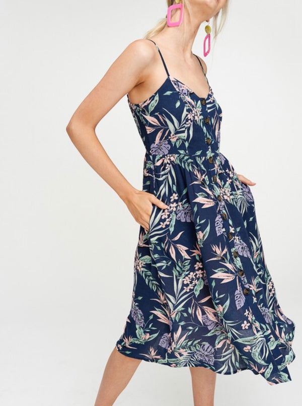 The Kelly Floral Midi Dress