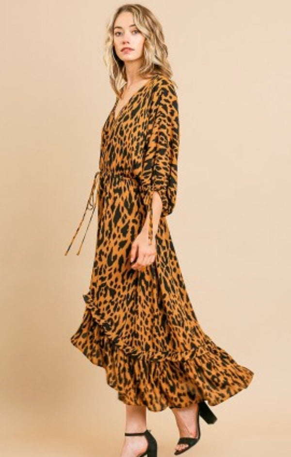 The Delilah Animal Print Midi Dress