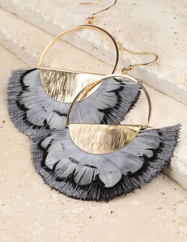 The Shake your Tail Feather Drop Earrings