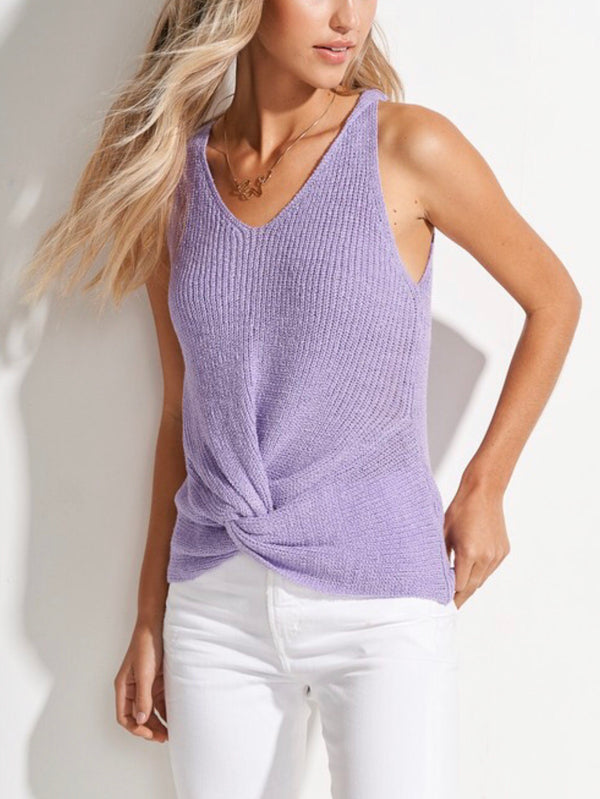 The Larissa Lavender Knit Tank