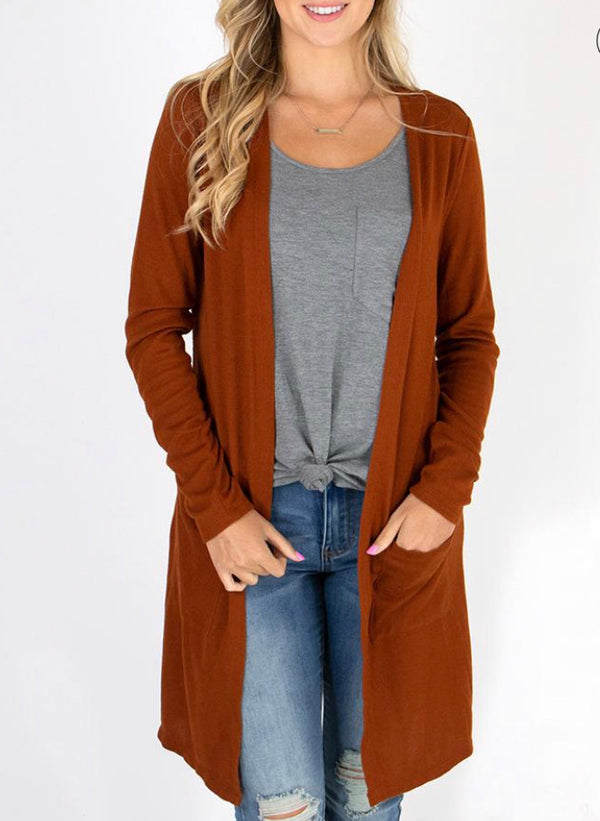 G&L Whiskey Soft Silky Casual Cardi