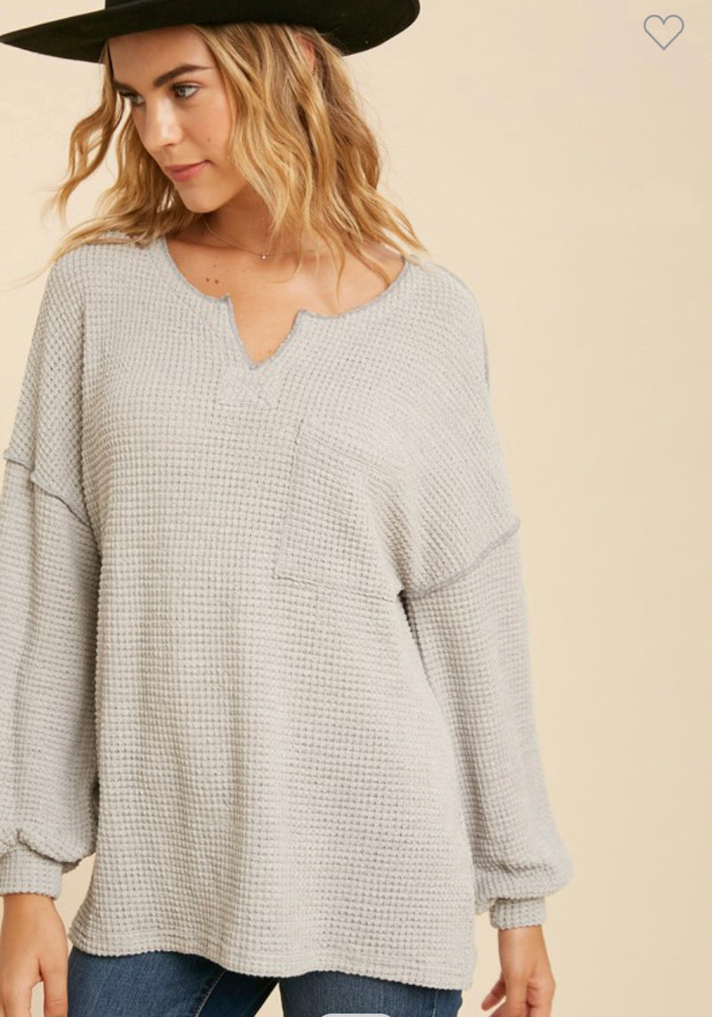 The Marcie Waffle Knit Top