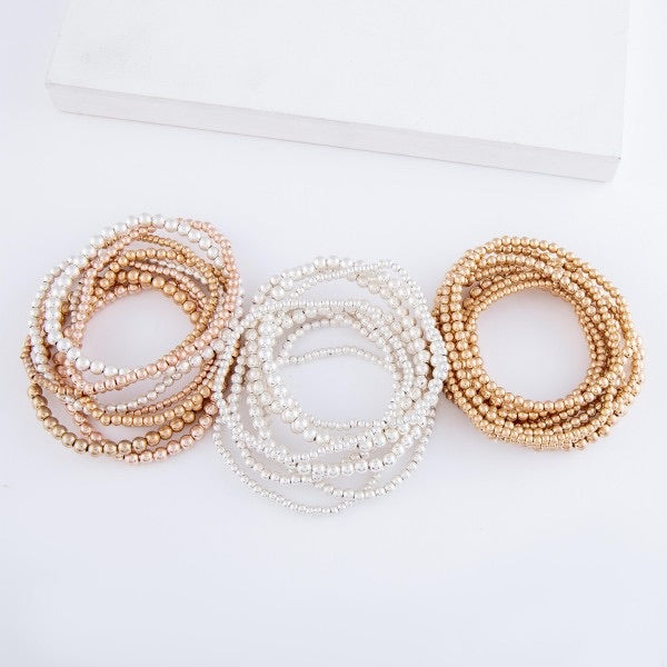 The Carrie Beaded Bracelet Stack