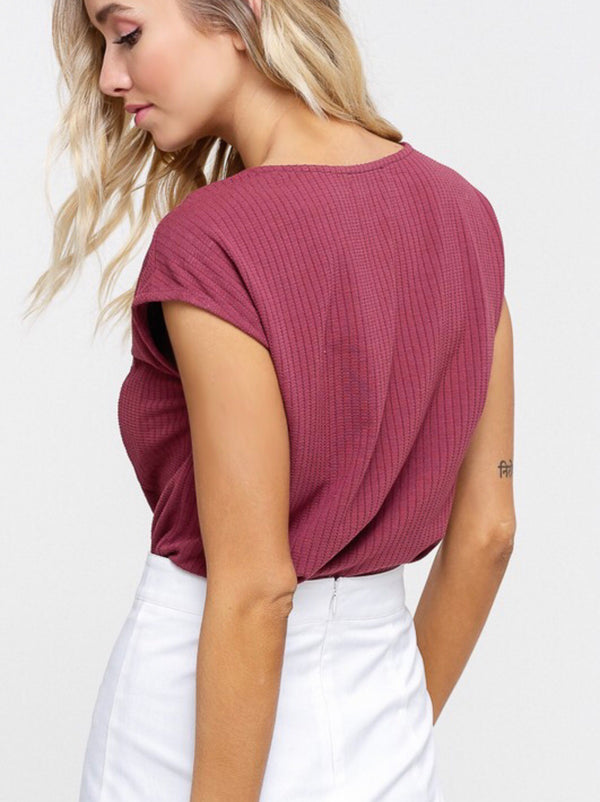 The Savannah Waffle Knit Top