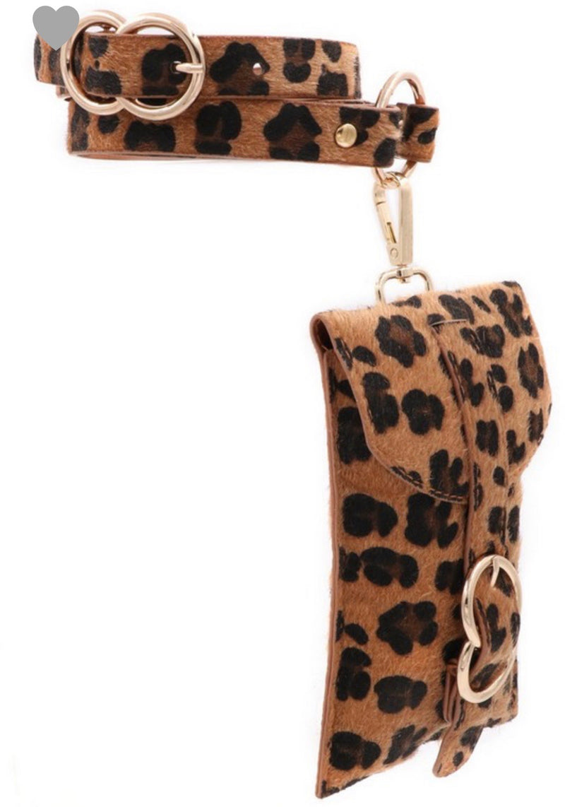 Let's Get Wild Faux Fur Leopard Belt Bag