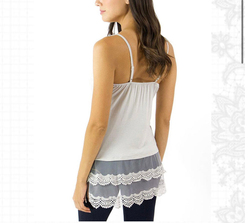 A Little Bit of Lace Extender Tank Top