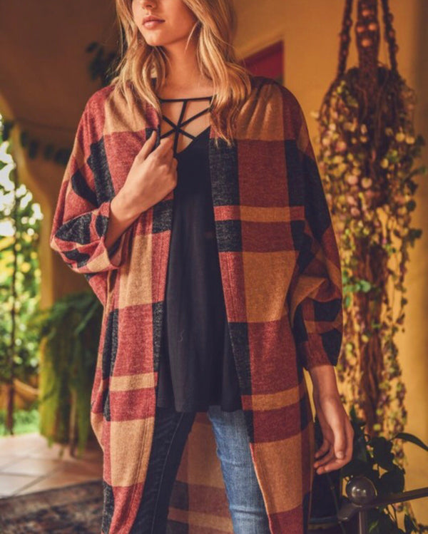 The Sonoma Plaid Cardigan