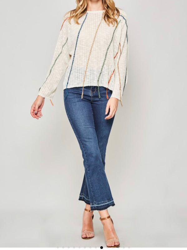 The Fringe Benefit Sweater