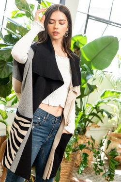 The Josie Colorblock Cardigan