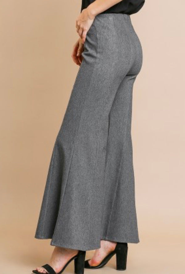 The Pinup Girl Gray Flare Pants