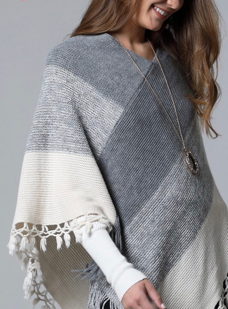 The Nepal Striped Poncho